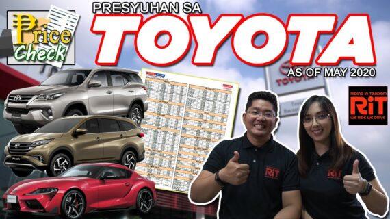 Daftar Harga Toyota 2020 Filipina: Daftar Harga Toyota di Filipina
