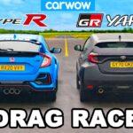 Toyota GR Yaris v Honda Civic Type R – DRAG RACE