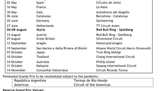 Michelin Grand Prix of Styria ditambahkan ke kalender, Grand Prix 2021 Finlandia dibatalkan