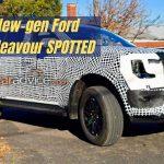 Ford Endeavour generasi baru SPOTTED!  »MotorOctane