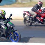 Kawasaki Z1000 Yamaha R6 Duel 5 Balap DRAG RACING |  Bike Duel