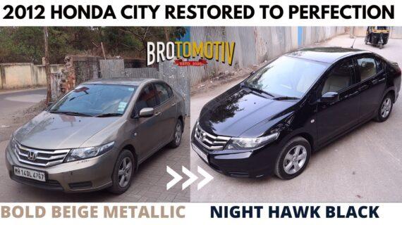 Kami mengecat Honda City 2012 ini dengan Night Hawk Black |  Brotomotiv