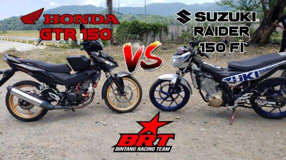 HONDA GTR 150 vs SUZUKI RAIDER 150 Fi |  KEDUA DENGAN BRT JUKEN 5 ECU