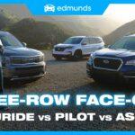Kia Telluride vs. Honda Pilot vs. Subaru Ascent |  Uji Perbandingan SUV Keluarga Menengah