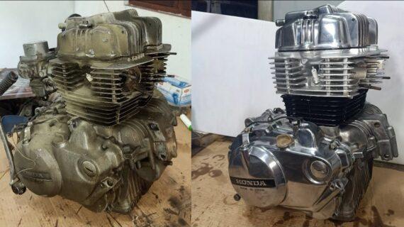 Restorasi Mesin Honda CB250N |  Restorasi Mesin CB250 Hawk