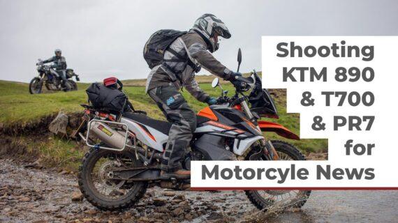 Menembak KTM890 & Yamaha T700 & AJP PR7 untuk Berita Motor