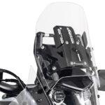Penyesuaian Kaca Depan Touratech Pro untuk Yamaha T7